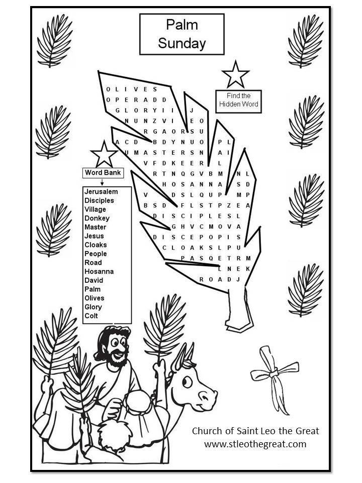 Church Of Saint Leo The Great Palm Sunday Coloring
